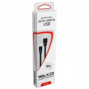 Кабель USB - Apple iPhone 5/6/7 WALKER 2.0A С320 черный