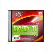 Диск  DVD+R VS 4,7Gb, 16x, Slim Case (ст.5) штука