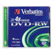 Диск DVD-RW Verbatim 4,7 Gb 4x Jewel Case (ст.5) штука